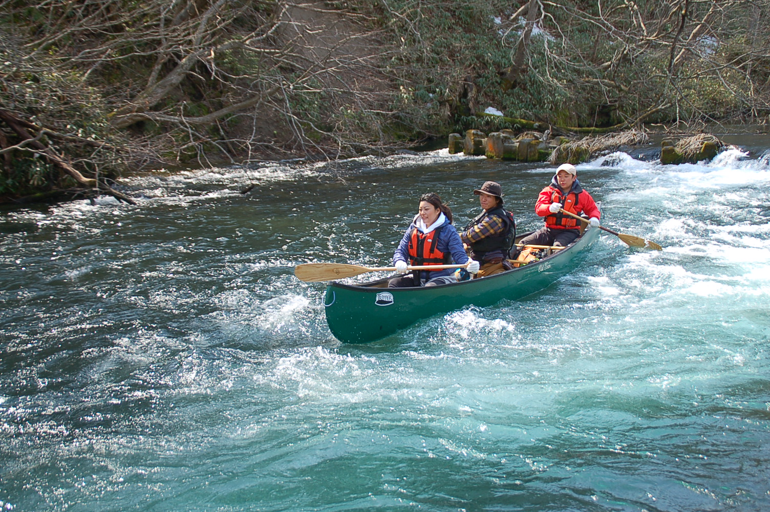 Full of Spring Cheer, Early Spring Canoeing in Chitose River