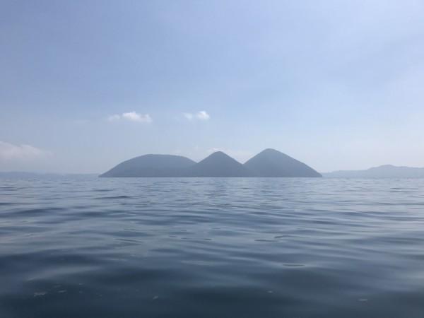 Clear Canoe in Lake Toya