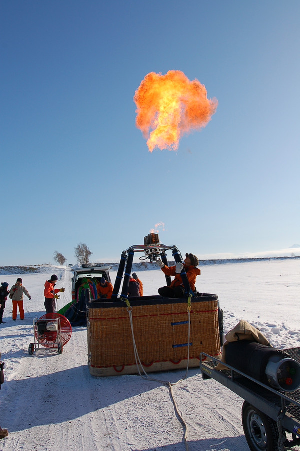 Let's enjoy a hot air ballooning free flight to have a view of drift ices on Sea of Okhotsk![Koshimizu]