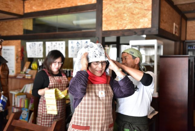 Soba noodle making at Yoichi