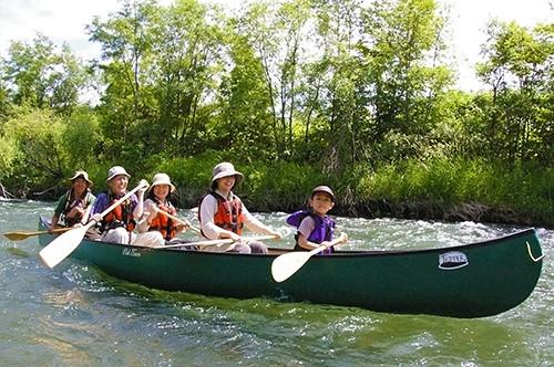 Canoeing in the Sorachi River! (Minami Furano Town)