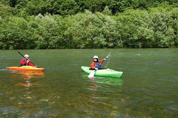 Kayaking in the Sorachi River! (Minami Furano Town)